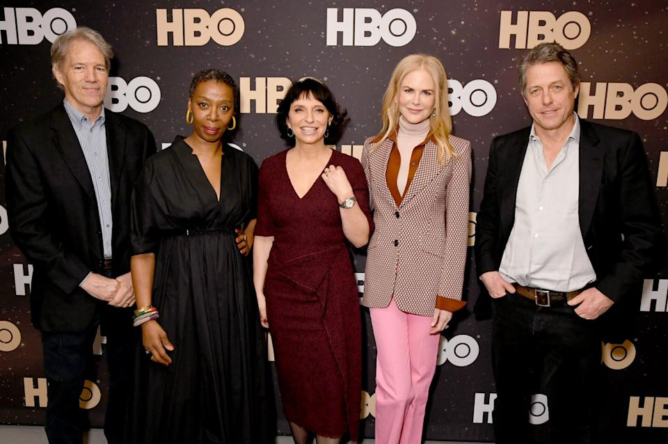 """From left to right, David E. Kelley, Noma Dumezweni, Susanne Bier, Nicole Kidman and Hugh Grant of """"The Undoing"""" at the 2020 Winter Television Critics Association press tour in Pasadena, California, on Jan. 15. (Photo: Getty Images for WarnerMedia)"""