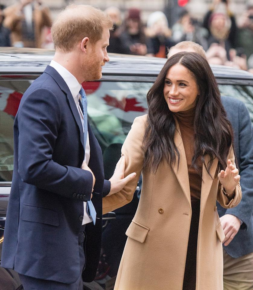 """The royal couple <a href=""""https://people.com/royals/meghan-markle-prince-harry-arrive-back-london-thank-canadians/"""">stepped out in London</a> on Tuesday after returning from their nearly two-month hiatus from royal work — to thank Canadians at Canada House for <a href=""""https://people.com/royals/meghan-markle-and-prince-harry-are-spending-private-family-time-in-canada/"""">hosting them on their getaway</a>."""