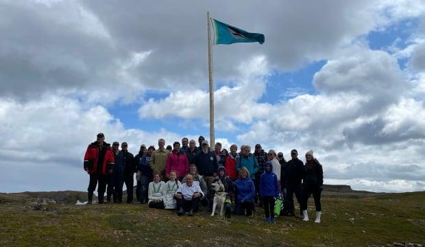 The NunatuKavut Community Council president, governing staff, community members and supporters marked the signing of a 1765 treaty on the weekend. (Submitted by the NunatuKavut community council - image credit)