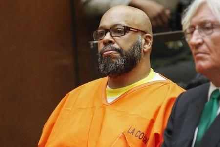 """File photo of defendant Marion """"Suge"""" Knight attending a hearing with attorney Thomas Mesereau in his murder case in Los Angeles"""