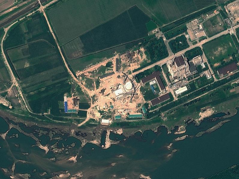 Yongbyon Nuclear Scientific Research Centre in North Korea, seen from a satellite in 2012 (AFP Photo/)