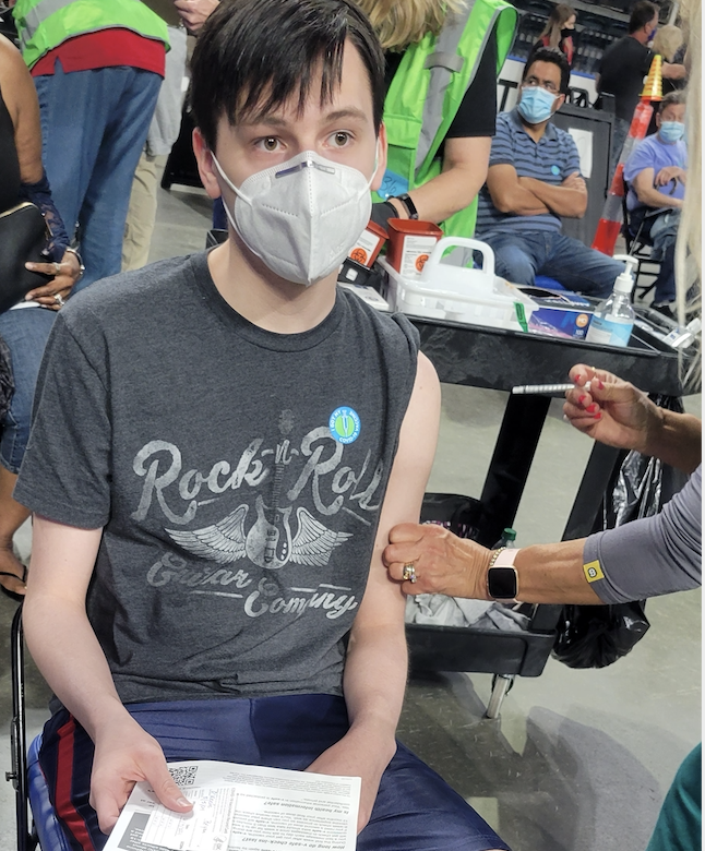 Bryan O'Keefe, 16, got his first COVID-19 vaccination last week. (Photo: Courtesy of Tom O'Keefe)