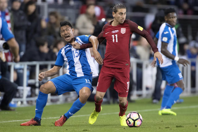 Alejandro Bedoya (11) has his own thoughts on what went wrong for the USMNT. (Getty)