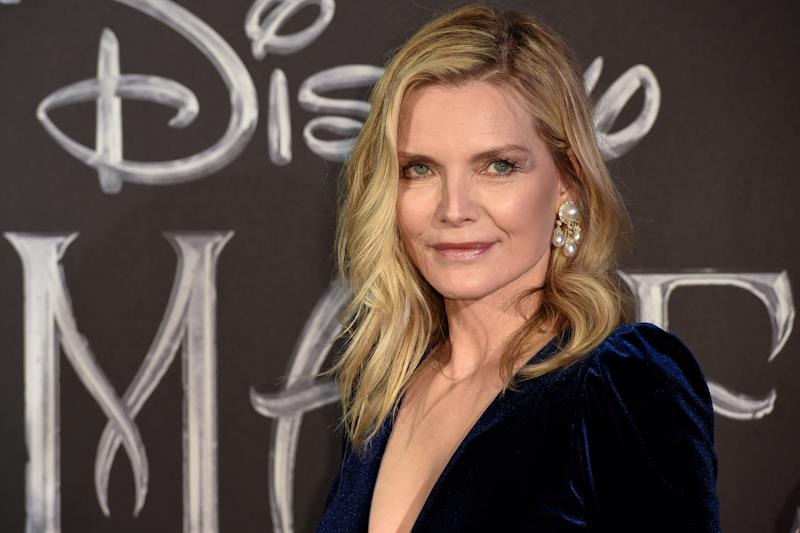 American actress Michelle Pfeiffer during the European premiere of the Disney film Maleficent Lady of Evil at the Auditorium della Conciliazione. Rome, October 7th, 2019 (photo by Marilla Sicilia/Archivio Marilla Sicilia/Mondadori Portfolio via Getty Images)
