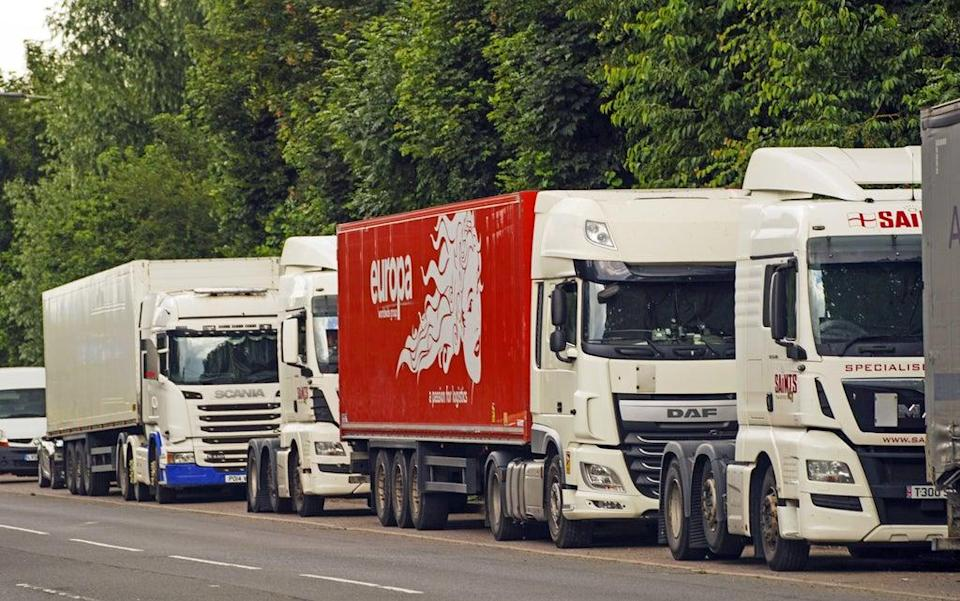 Building materials supplier Selco has launched a training programme offering staff the chance to become lorry drivers to help ease the nationwide shortage (Steve Parsons/PA) (PA Wire)