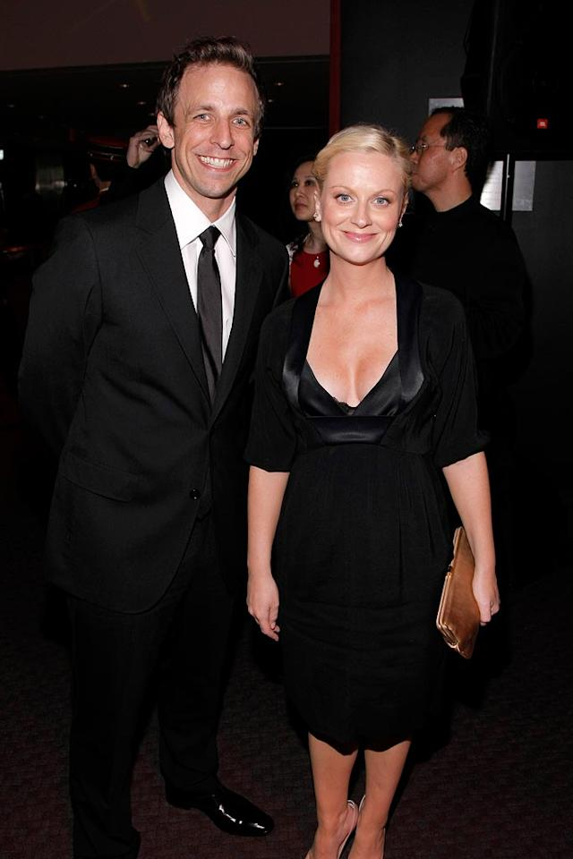 """The dynamic duo behind """"Weekend Update,"""" Seth Meyers and Amy Poehler, both looked better than ever. Jemal Countess/<a href=""""http://www.wireimage.com"""" target=""""new"""">WireImage.com</a> - May 8, 2008"""
