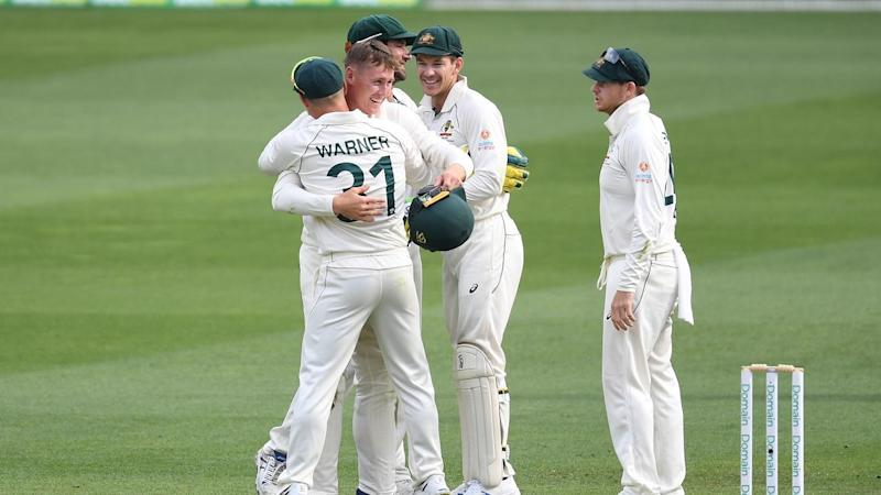 Australia have beaten Pakistan by an innings and five runs within four days in the first Gabba Test