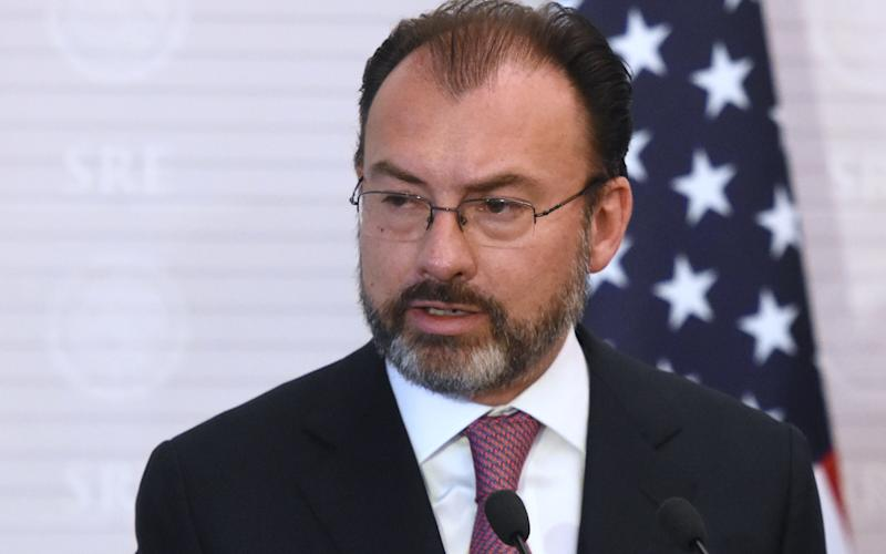 Luis Videgaray, Mexico's foreign minister - Copyright (c) 2017 Rex Features. No use without permission.