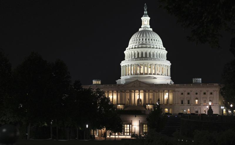 The U.S. Capitol building is seen as budget battles continue to rage inside over the looming shutdown of most of the U.S. government in Washington