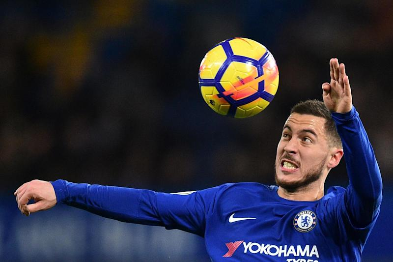 Star man: Conte might have more succes with Hazard out wide: AFP/Getty Images