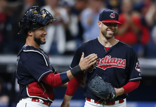 The Indians are close to the all-time consecutive wins record. (AP Photo/Ron Schwane)