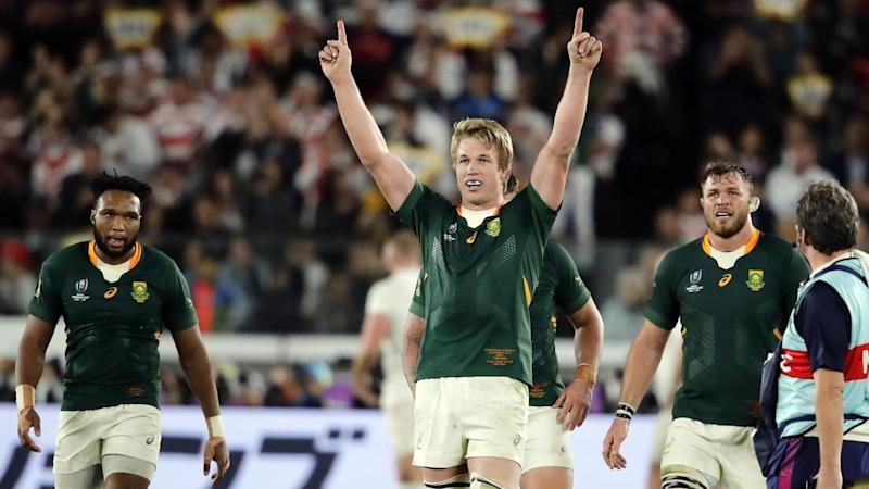 South Africa's Pieter-Steph du Toit (C) has been awarded World Rugby player of the year