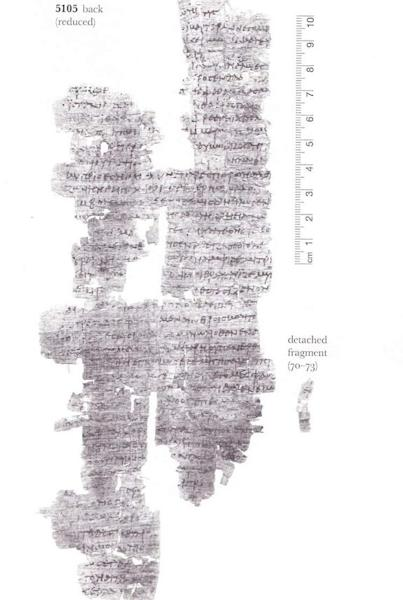 The back of the newly deciphered papyrus. It wasn't unusual in the ancient world for texts to be written on both sides.