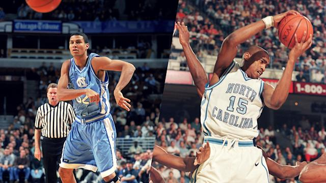 <span>Meléndez (left)</span> and Carter played together at the University of North Carolina.