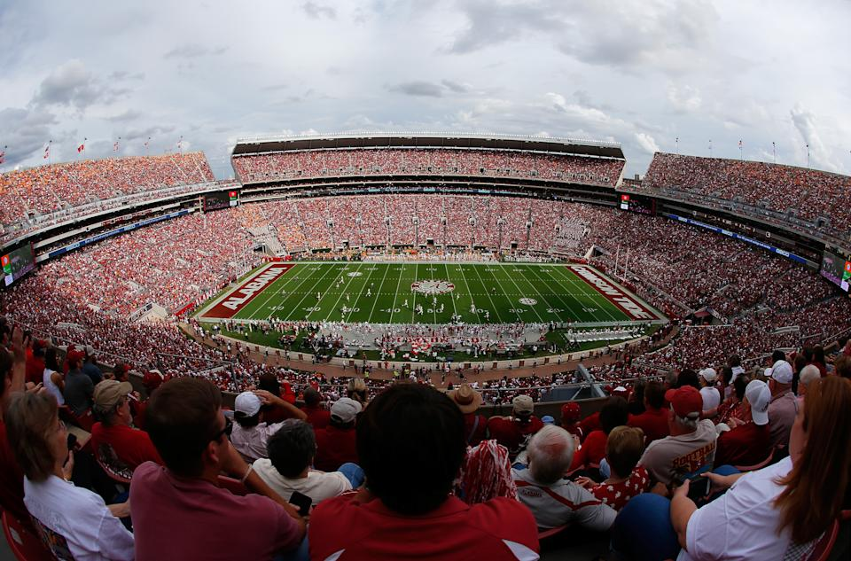 TUSCALOOSA, AL - OCTOBER 24:  A general view of Bryant-Denny Stadium during the game between the Alabama Crimson Tide and the Tennessee Volunteers on October 24, 2015 in Tuscaloosa, Alabama.  (Photo by Kevin C. Cox/Getty Images)