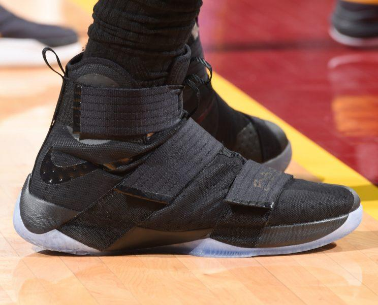 watch 47314 ec822 The Nike Soldier 10 at the 2016 NBA Finals. (Getty Images)