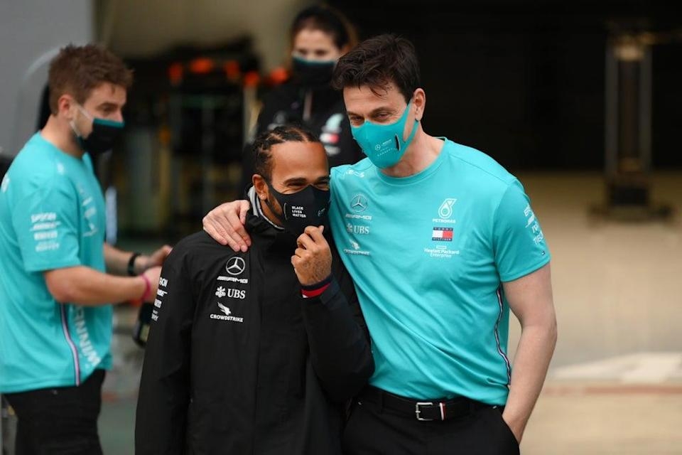 Lewis Hamilton and Toto Wolff  (Getty Images)