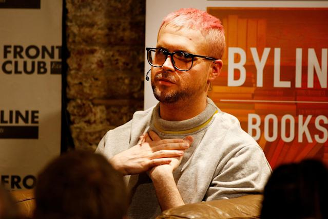 Christopher Wylie, a whistleblower who formerly worked with Cambridge Analytica, the consulting firm that is said to have harvested private information from more than 50 million Facebook users, speaks at the Frontline Club in London, Britain, March 20, 2018. REUTERS/Henry Nicholls TPX IMAGES OF THE DAY