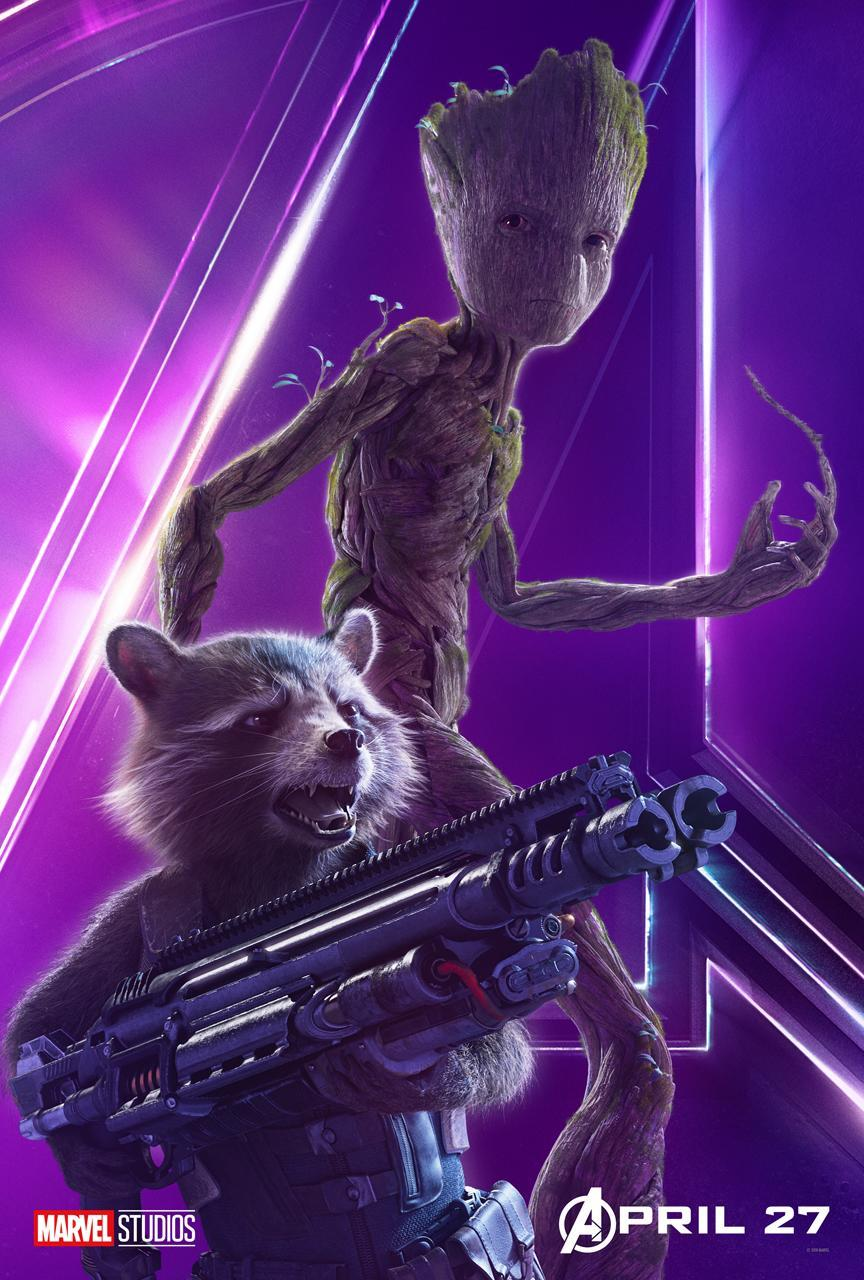 <p>The foul-mouthed, heavily armed trash panda (voiced by Bradley Cooper) and his twiggy pal (voiced by Vin Diesel) are never far from trouble. (Photo: Marvel Studios) </p>