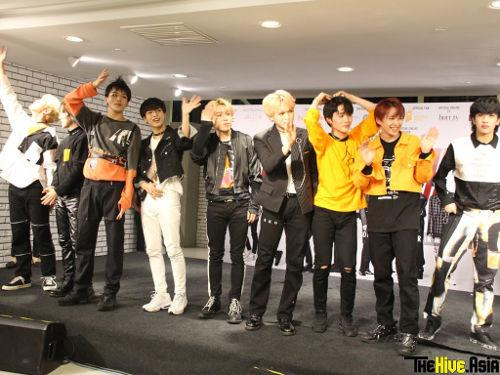 D-Crunch waving goodbye at the end of their first showcase.