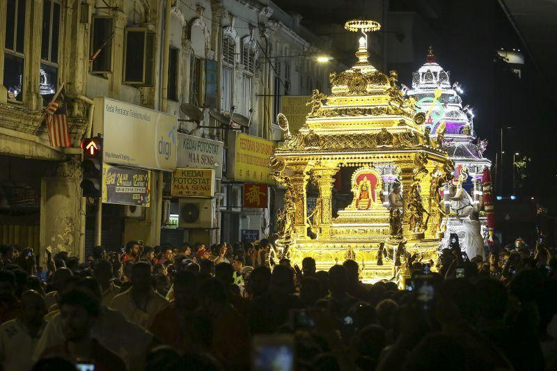 The Lord Muruga chariot procession will be allowed to travel from Maha Mariamman and back. ― Picture by Yusof Mat Isa