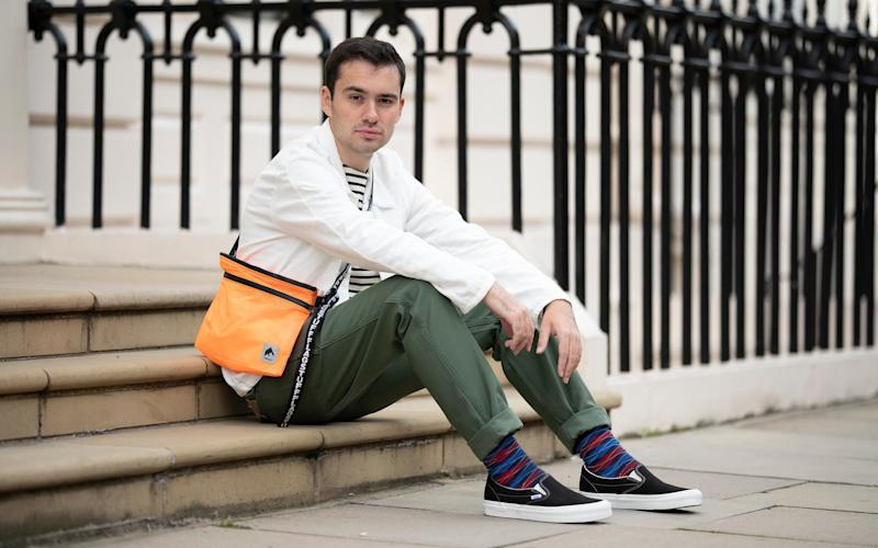 Luke's wearing tee, Norse Projects, £100; white shirt, Our Legacy, £230; Stan Ray trousers, £75; Vans shoes, £57; and orange Flagstuff bag, available from goodhoodstore.com  - Christopher Pledger