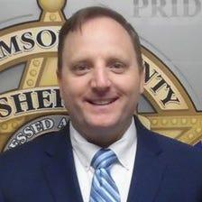 Mug shot taken of Williamson County Sheriff Robert Chody on the day he was booked into jail after being indicted on a felony charge of evidence tampering.