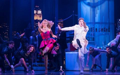 Jay McGuiness and Kimberley Walsh in Big: The Musical - Credit: Alastair Muir