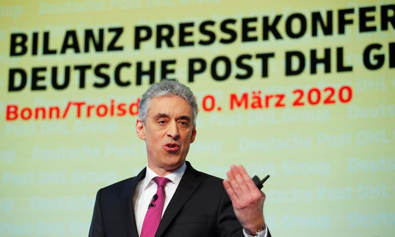 FILE PHOTO: DHL CEO Appel at the annual news conference of the German postal and logistic group in Troisdorf