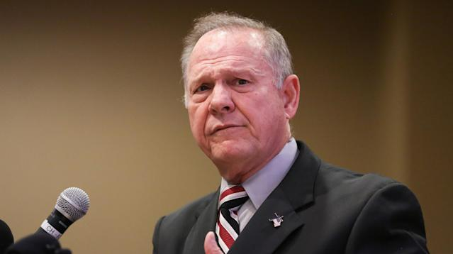 Judge Roy Moore took a few minutes during a Veterans Day speech he gave in Birmingham, Alabama, to claim victimhood and dismiss allegations that he sexually assaulted a 14-year-old girl.
