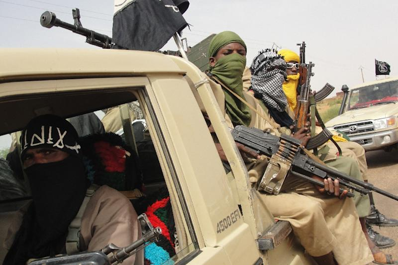 Fighters from Islamic group Ansar Dine pictured in northern Mali in August 2012