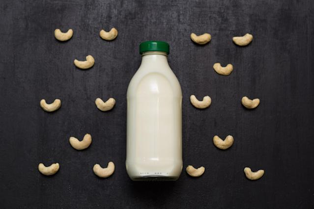 Cashew milk naturally contains 4 grams of protein per serving and 8% of the daily value for iron. All cashew milks are naturally lactose-free and can replace cow's milk for those who have trouble digesting dairy. Homemade versions have less protein, calcium, and potassium than cow's milk but more healthy unsaturated fats, iron, and magnesium
