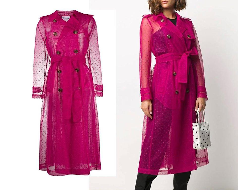RED Valentino sheer trench coat