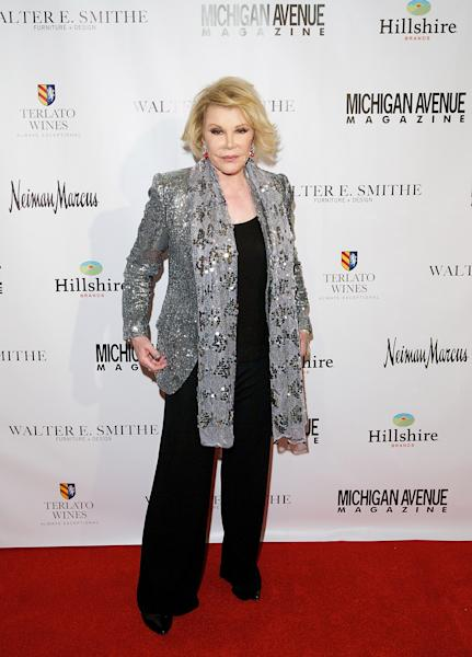 Joan Rivers in Chicago, Illinois on May 27, 2014 (AFP Photo/Jeff Schear)