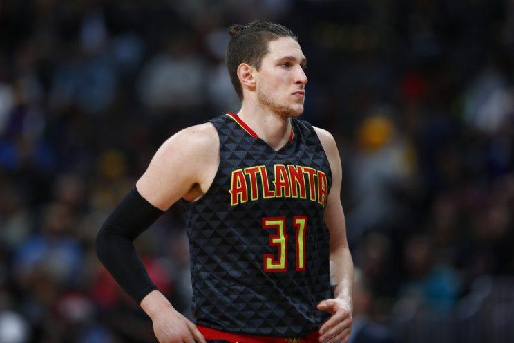 Mike Muscala has played four seasons with the Hawks. (AP)