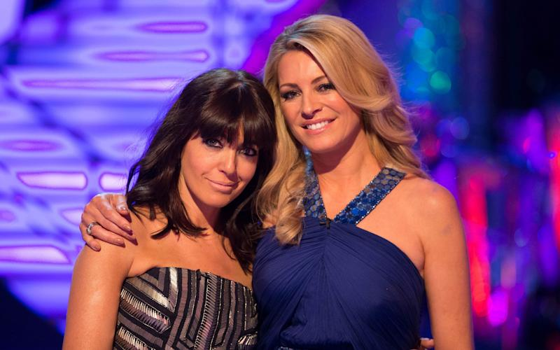 Claudia Winkleman and Tess Daly on the BBC's Strictly Come Dancing - BBC