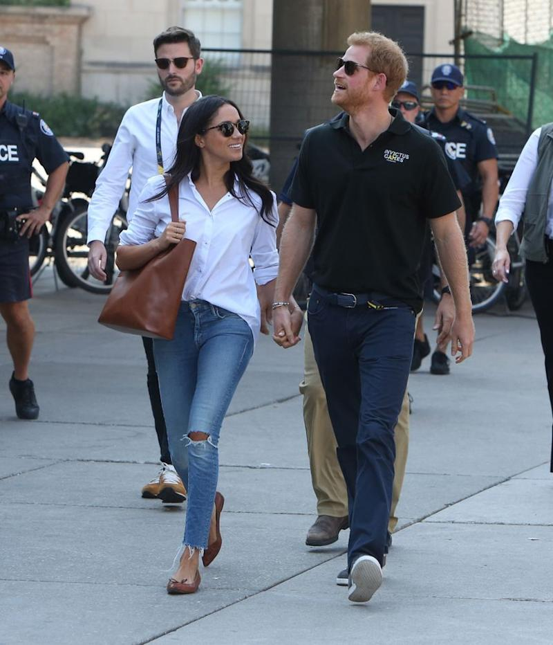 Meghan Markle and Prince Harry at the 2017 Invictus Games in Toronto