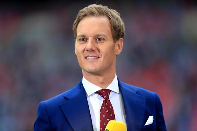 BBC presenter Dan Walker during the FA Cup Final at Wembley Stadium, London. (Photo by Mike Egerton/PA Images via Getty Images)
