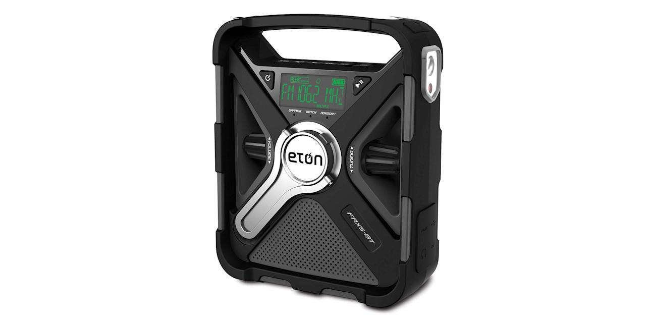 "<p><strong>Eton</strong></p><p>amazon.com</p><p><strong>$51.28</strong></p><p><a href=""https://www.amazon.com/dp/B01K6OCSI6?tag=syn-yahoo-20&ascsubtag=%5Bartid%7C10060.g.30460044%5Bsrc%7Cyahoo-us"" target=""_blank"">Buy Now</a></p><p>A smartphone is indispensable when you're on the road and is your primary means of rescue in today's interconnected world. But to reach help you need juice: A charging cord is a good idea, but a hand-crank charger that works away from the car or when the car battery is dead is an even better one.</p>"