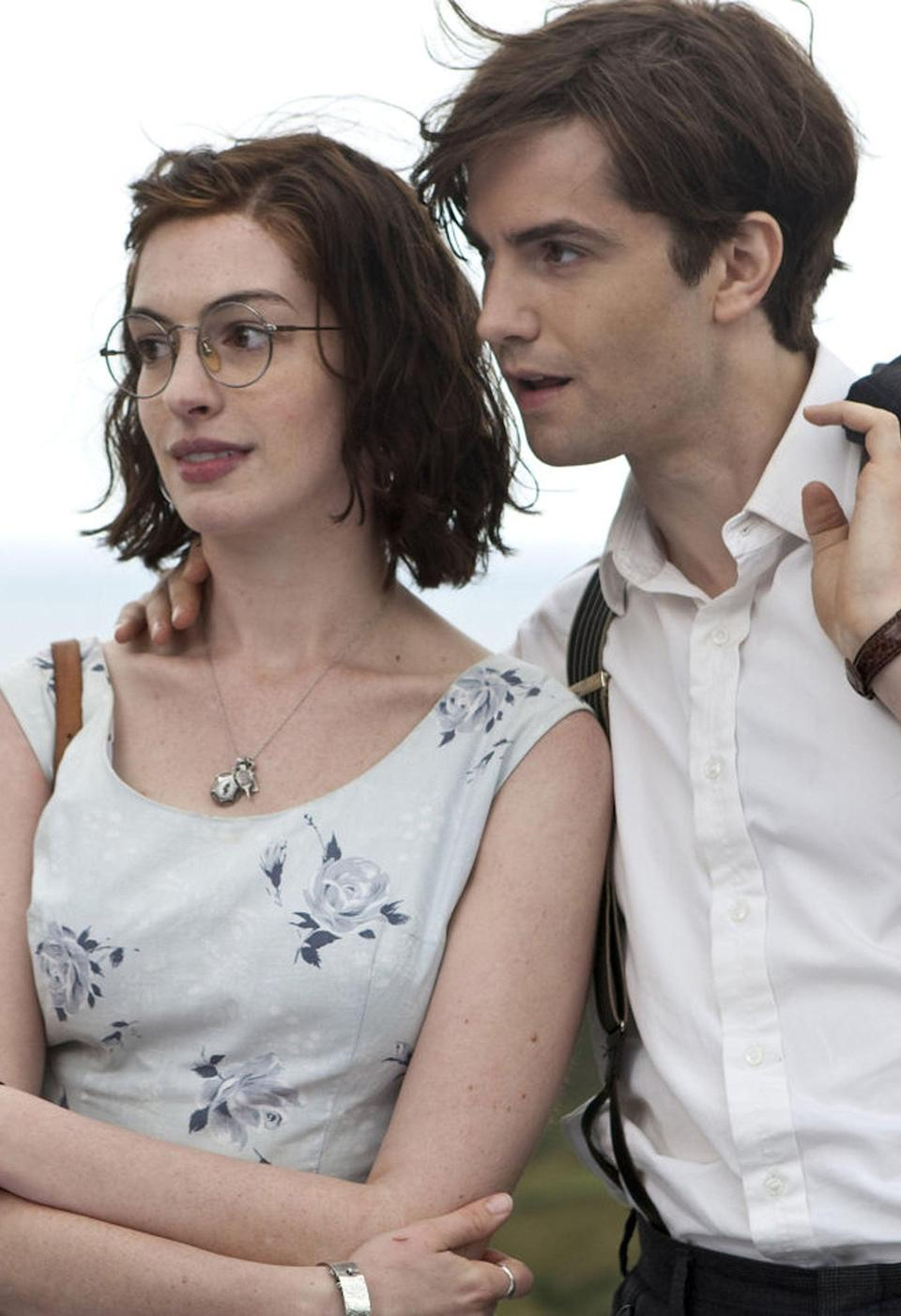 Mean jokes: Sturgess with Anne Hathaway and her Yorkshire accent in 'One Day' (Moviestore/Shutterstock)