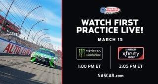 NASCAR Digital will stream the opening practices for the Monster Energy NASCAR Cup Series and the NASCAR Xfinity Series on Friday from Auto Club Speedway as it's the fifth race of the season for both series and the final one on this year's West Coast swing. RELATED: Weekend schedule for Auto Club Tune in starting […]