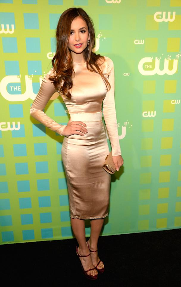 "Nina Dobrev (""The Vampire Diaries"") attends The CW's 2012 Upfronts on May 17, 2012 in New York City."