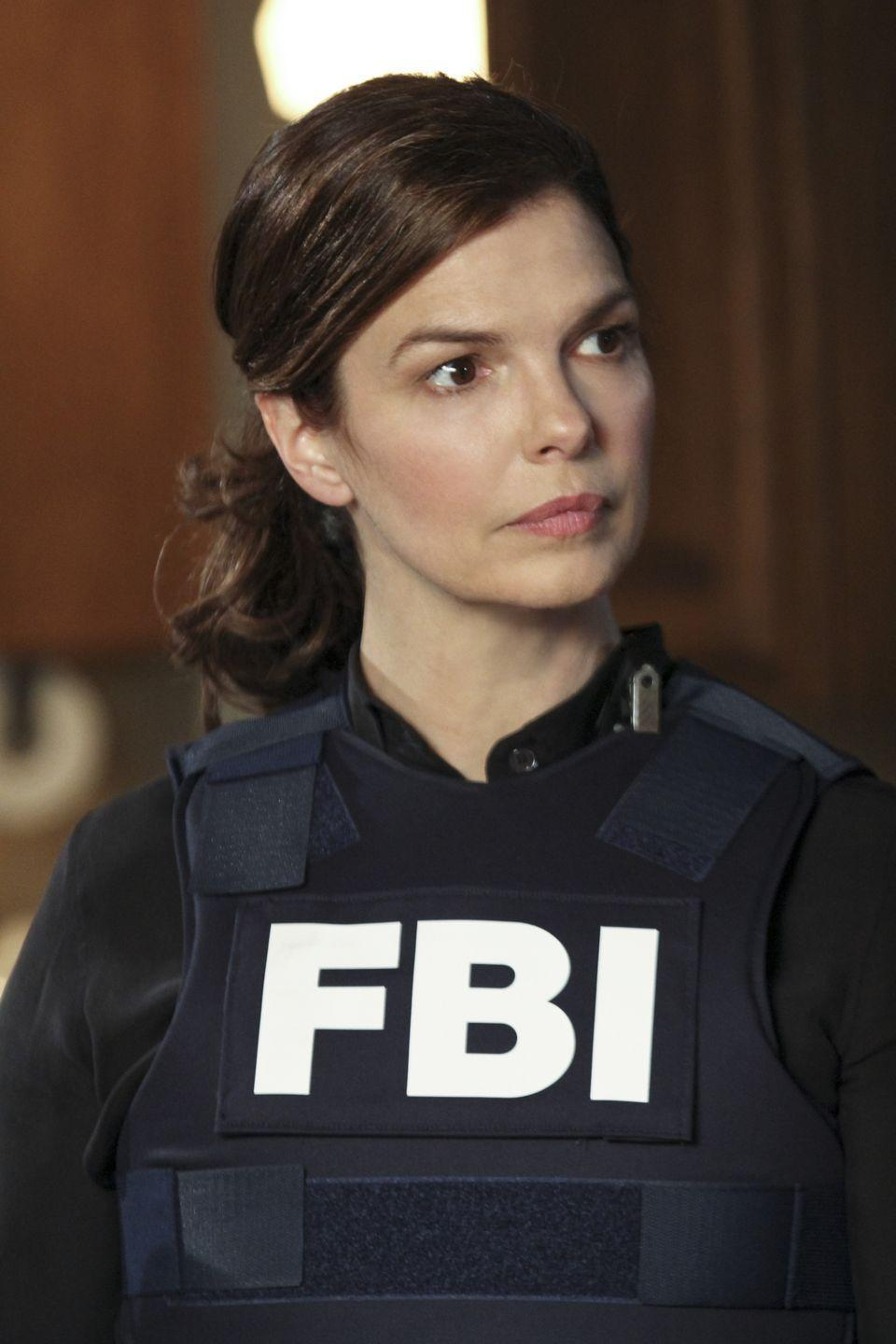 "<p>After Emily Prentiss (Paget Brewster) left the team for a job at Interpol, linguistics specialist Alex Blake, played by Jeanne Tripplehorn, joined the BAU for two seasons. </p><p>""The aspect I'm truly surprised about—given that the show is heading into its eight season—is the fun and warmth that is around the set,"" the former <em>Big Love </em>star told <a href=""https://www.thetvaddict.com/2012/09/26/todays-tv-addict-top-5-jeanne-tripplehorn-previews-her-intense-new-role-on-criminal-minds/"" rel=""nofollow noopener"" target=""_blank"" data-ylk=""slk:TV Addict"" class=""link rapid-noclick-resp"">TV Addict</a>. ""<em>Criminal Minds</em> is a smooth running machine. After seven seasons they've worked out all the kinks, we have a lot of laughs on set, and it's just fun to go to work.""</p>"