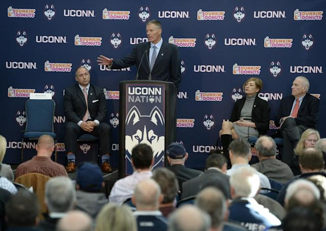 Randy Edsall was hired as UConn's head coach on Dec. 28. (AP Photo/Jessica Hill)