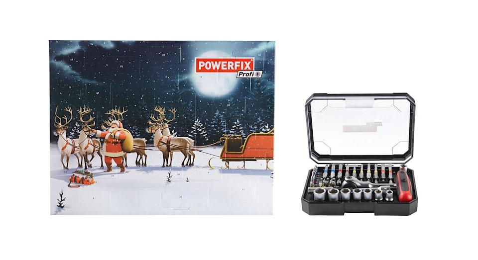 <p>Boasting a complete, 36-piece set, each door of the calendar reveals a different part of the chrome vanadium and S2 steel kit. <em>Available at Lidl from 8 November. </em> </p>
