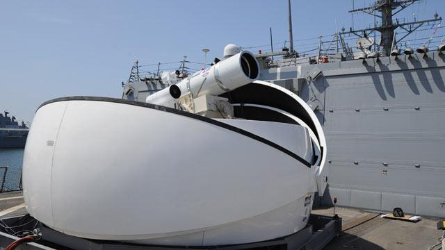 Navy's New Laser Weapon Blasts Bad Guys From Air, Sea