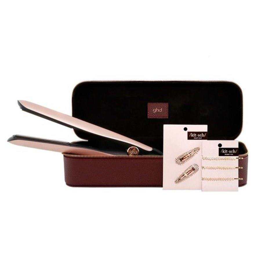 """<p>If you've been on the market for just the right beauty-related splurge for someone special on your list, this stunning rose gold set from GHD is just the ticket. The versatile (and vanity-ready) hot tool creates curls, waves, and even straightens hair, while the <a href=""""https://www.allure.com/gallery/best-hair-clips-barrettes?mbid=synd_yahoo_rss"""">sparkling hair accessories</a> pin it back for a party-ready style in seconds.</p> <p><strong>$199 (<a href=""""https://shop-links.co/1688580192369680430"""" rel=""""nofollow"""">Shop Now</a>)</strong></p>"""