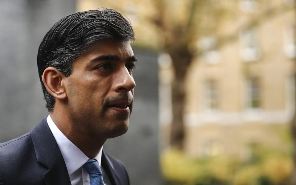 Rishi Sunak arrives for a weekly meeting of Cabinet ministers - Bloomberg