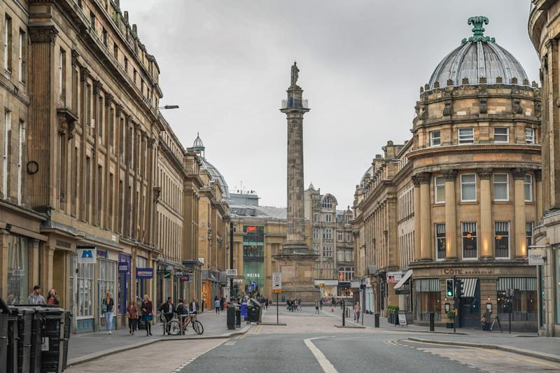 A view of Grey's Monument in the city of Newcastle, UK. Photo: Richard Gray/EMPICS Entertainment