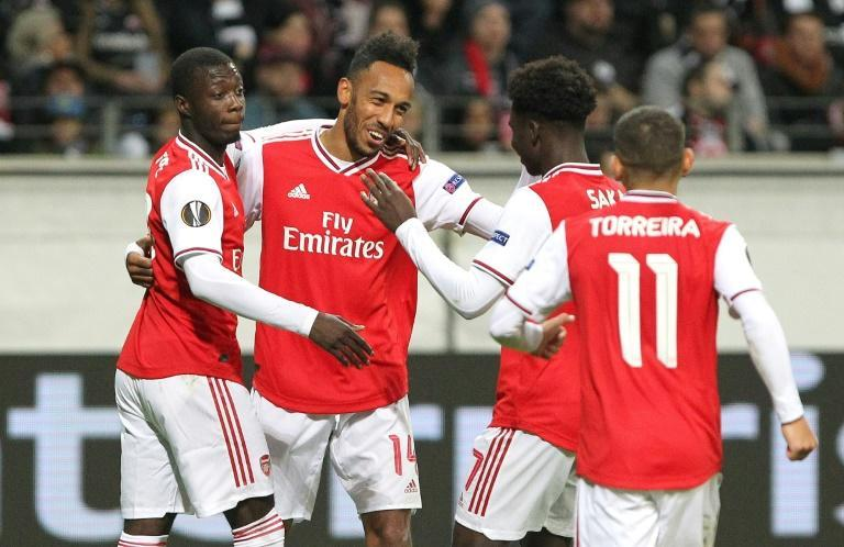 Arsenal made a strong start to their Europa League campaign in Germany (AFP Photo/Daniel ROLAND)